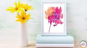 Organized Chaos Quote abstract flower art