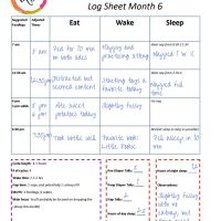 printable baby schedule with example recordings