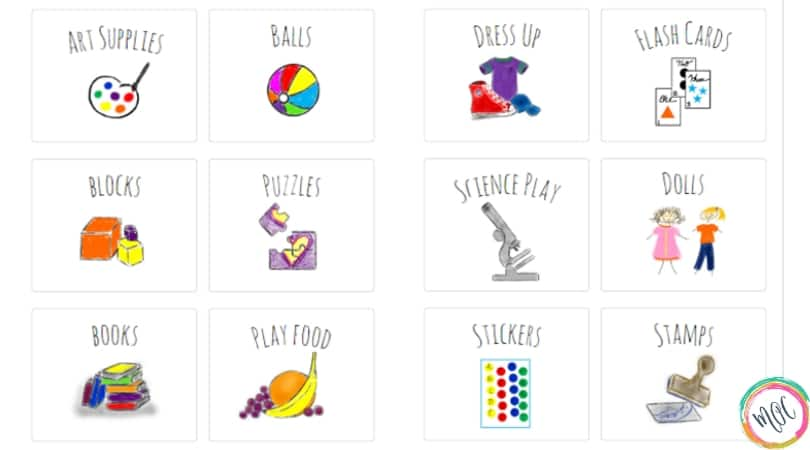 image relating to Printable Toy known as Printable Toy Bin Labels Printable (24)